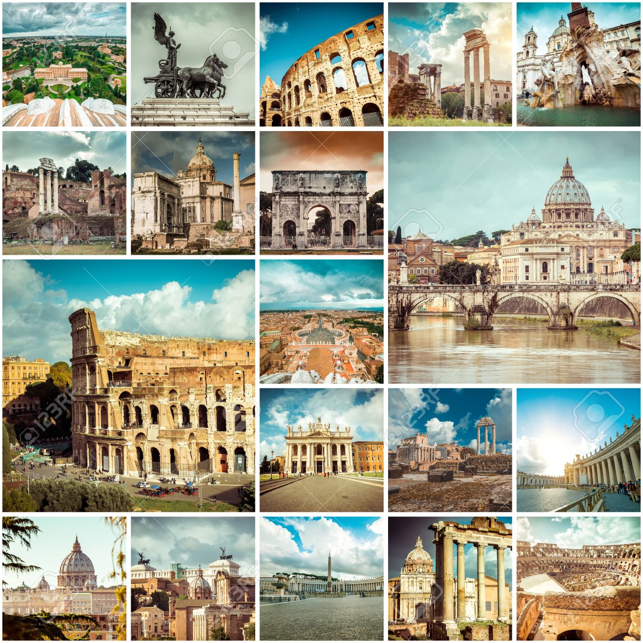 Collage of photos from Rome. Italy - 35125108