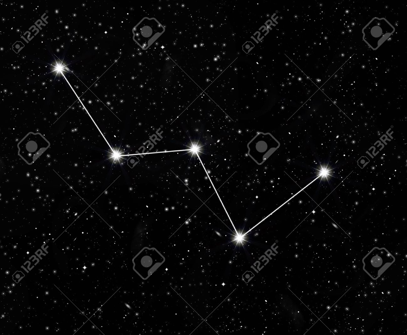 constellation Cassiopeia against the starry sky - 38492354