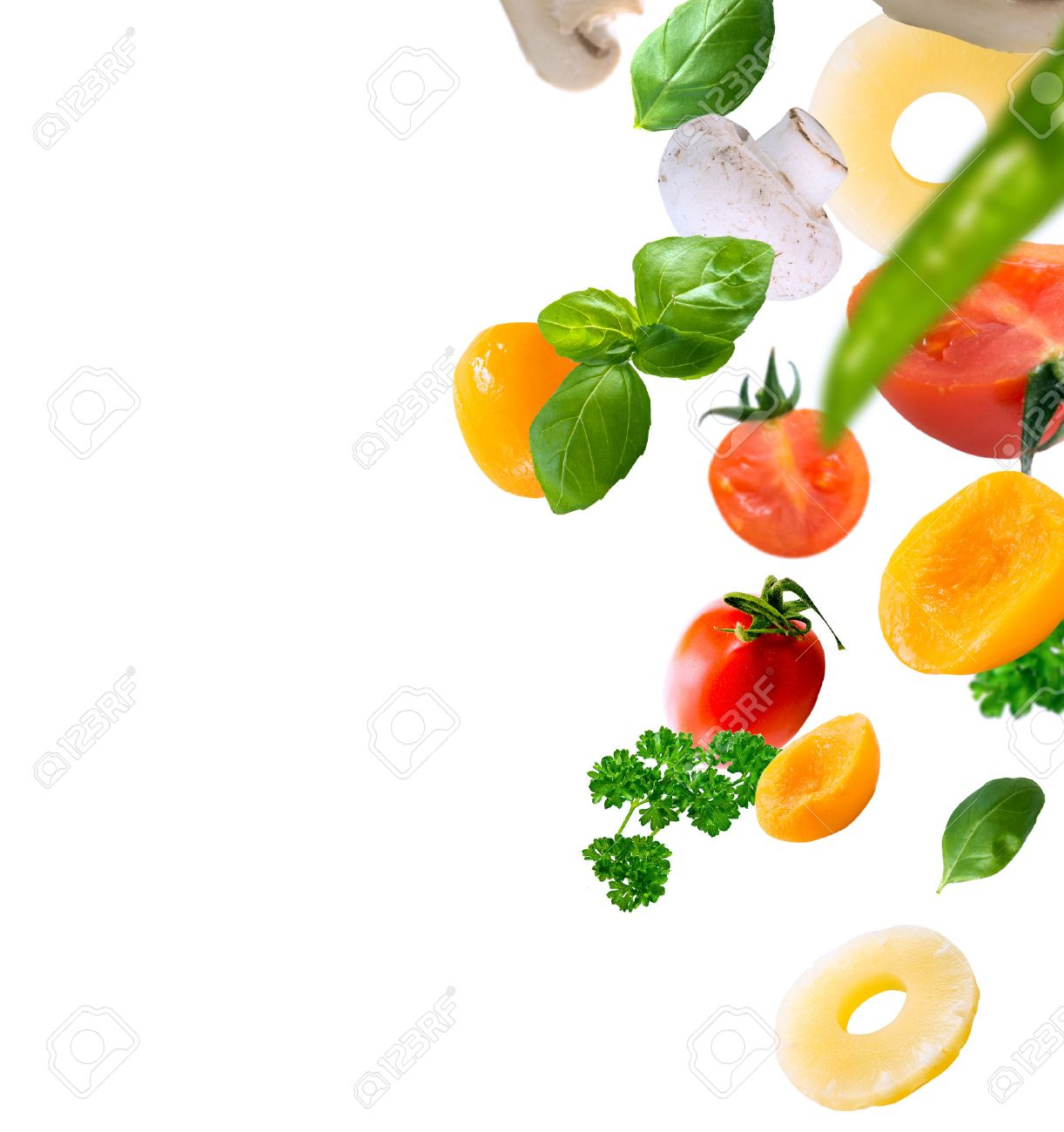healthy food ingredients on a white background - 40312848