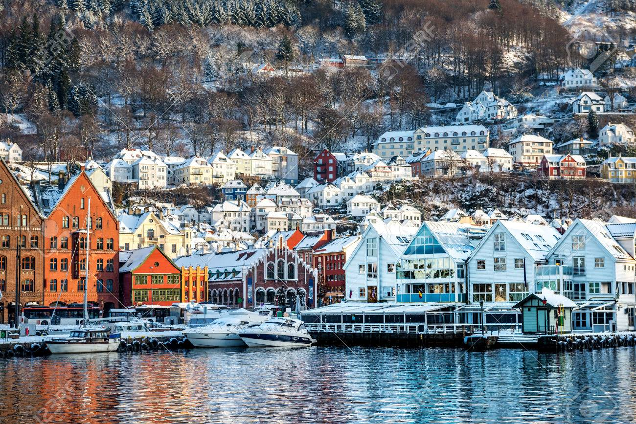 The historical part of the city in Bergen, Norway - 46656078