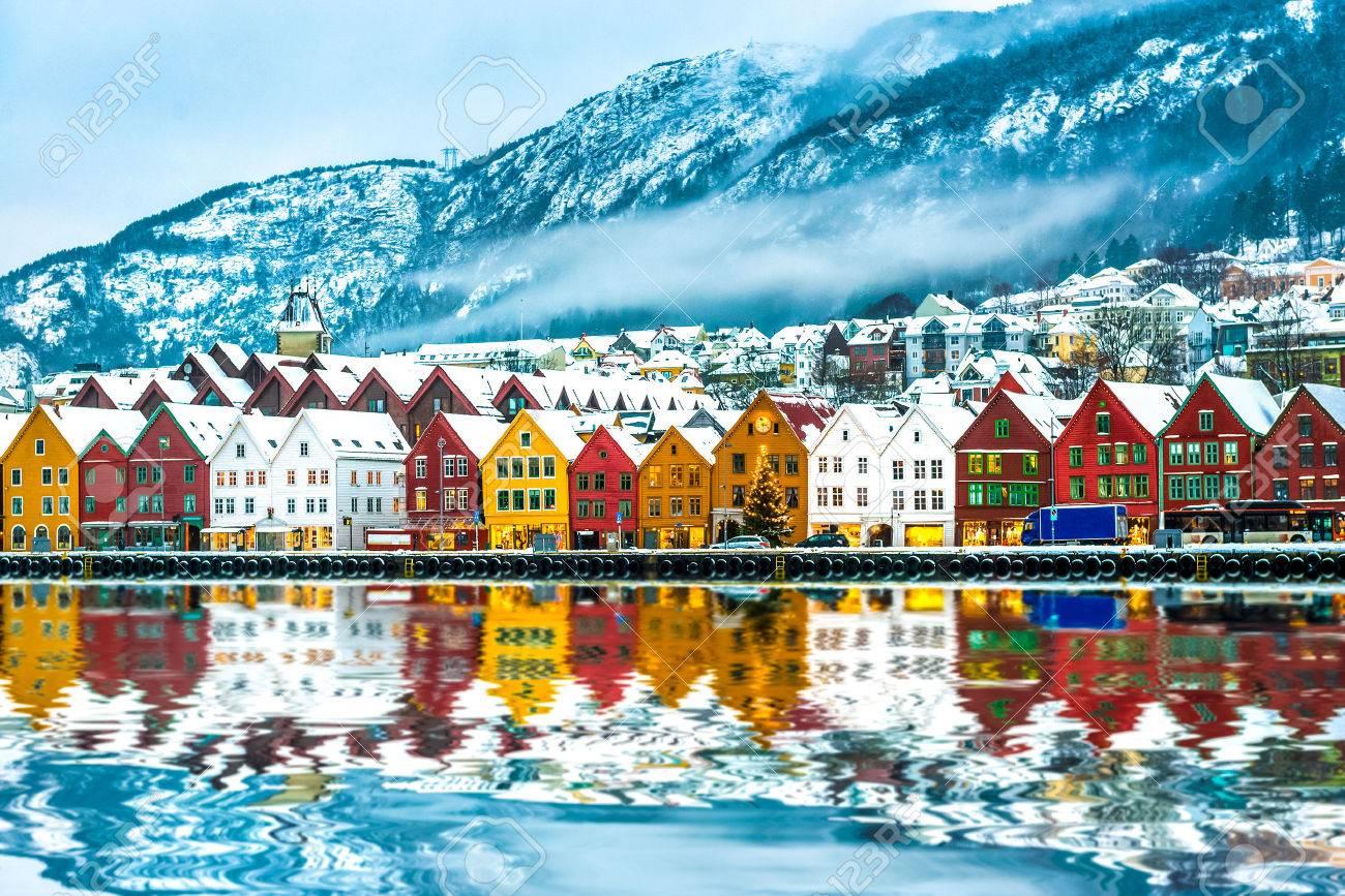 view on Bruges. Bergen Norway - 47391636