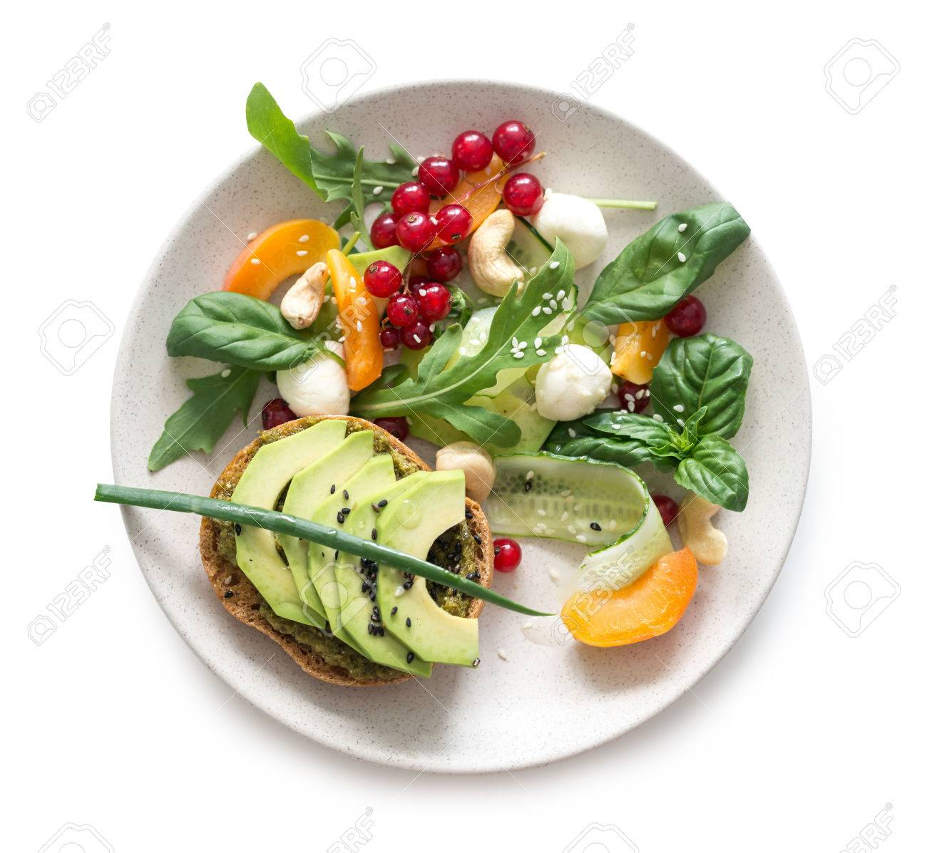 Vegetarian salad isolated - 81852494