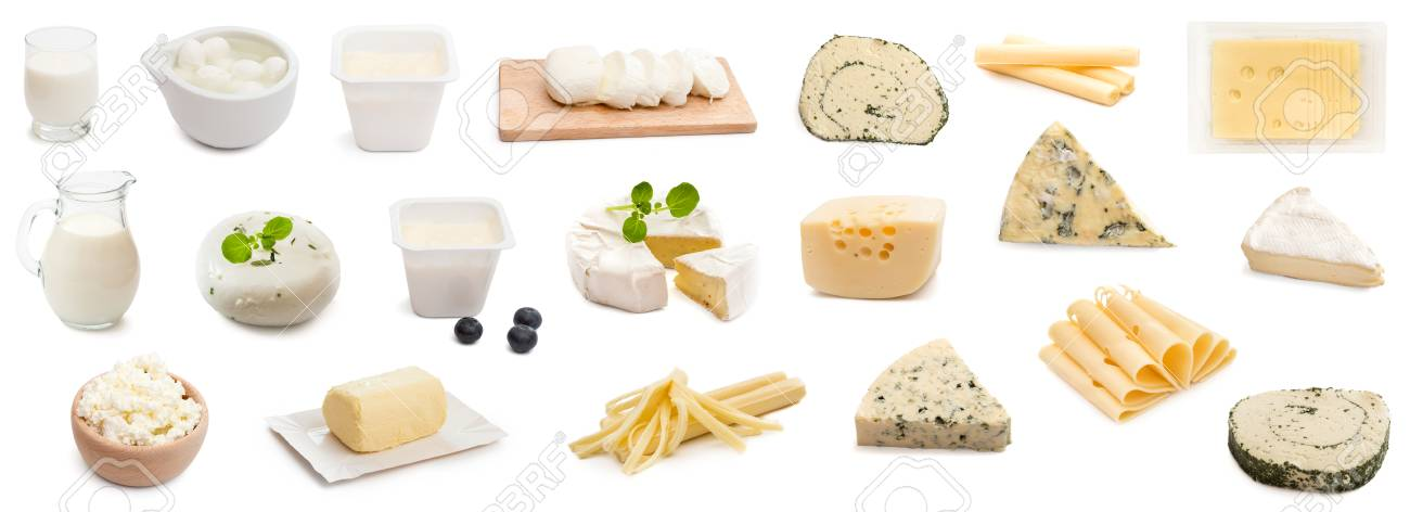 collage various types of cheeses isolated - 91689729