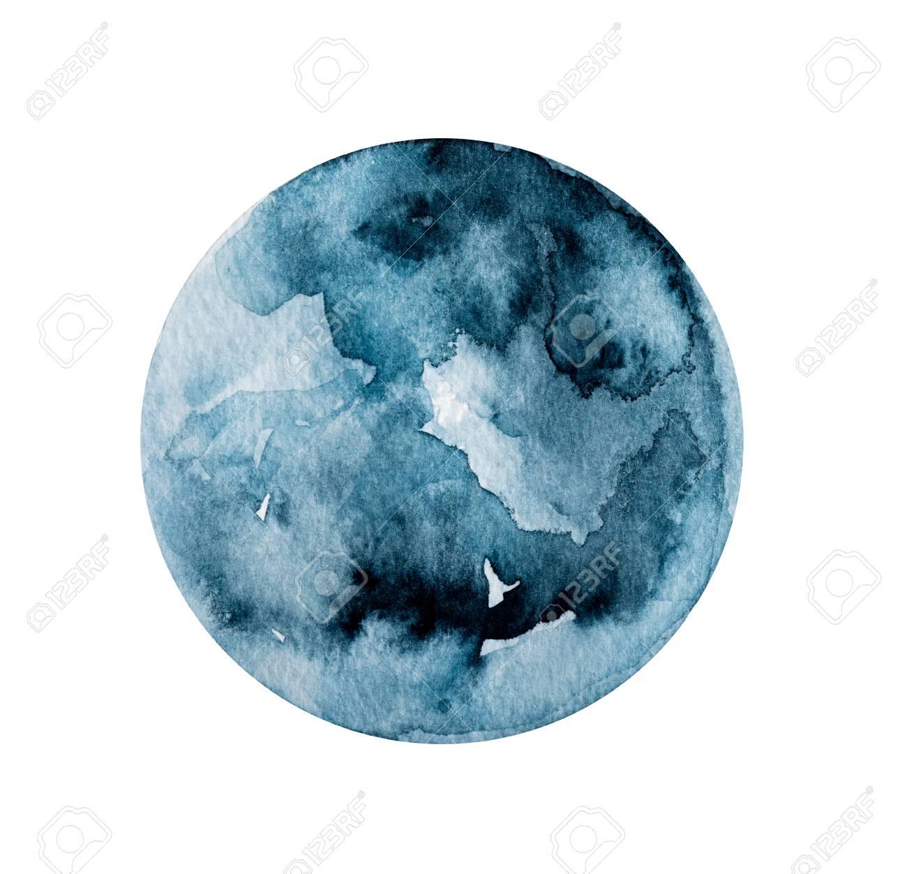 Dark round painting - 119674596