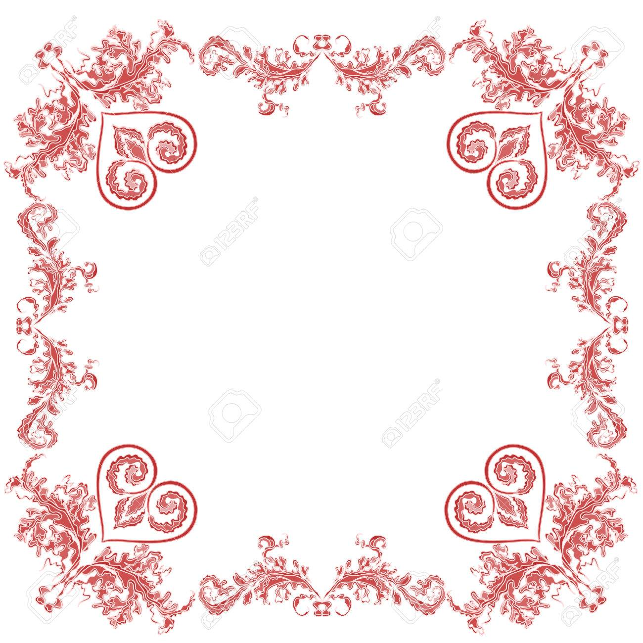 heart ornaments decorative frame royalty free cliparts vectors and