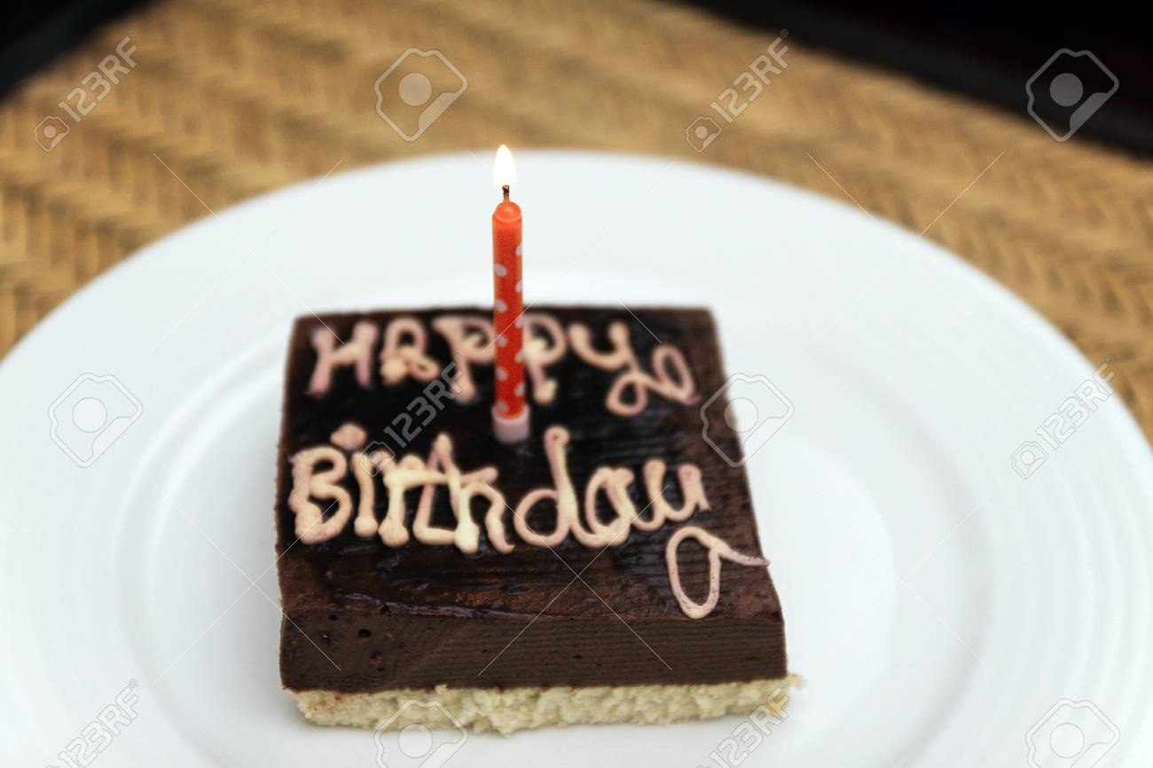 Amazing Small Square Festive Chocolate Cake With The Inscription Happy Funny Birthday Cards Online Necthendildamsfinfo