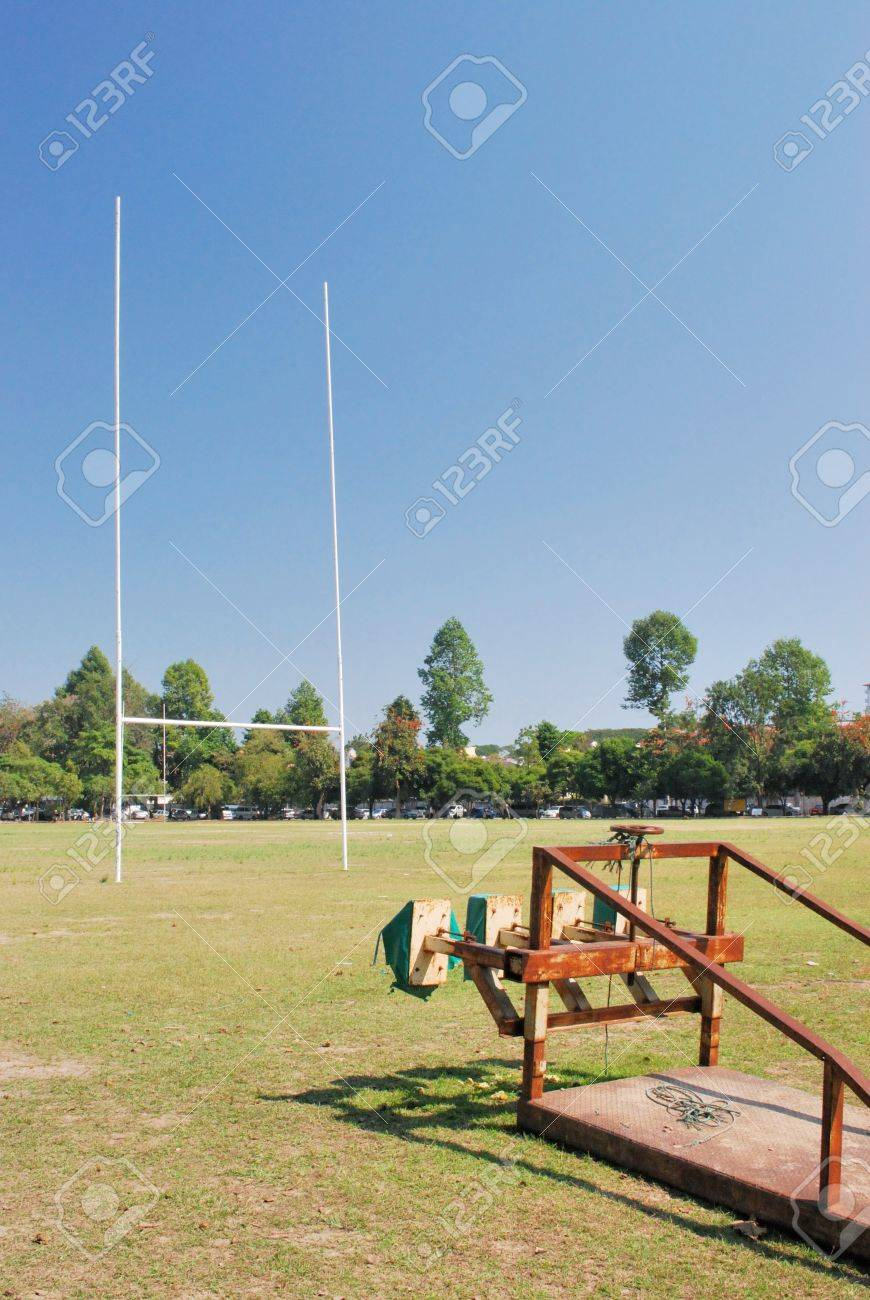 Rugby football training apparatus Stock Photo - 11508780
