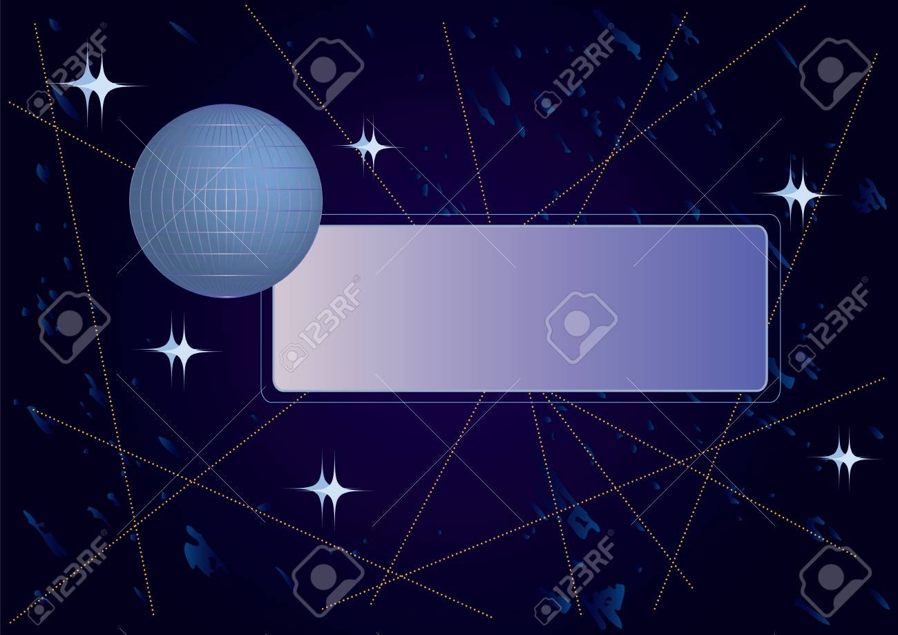 abstract space banner with the globe Stock Vector - 3564287