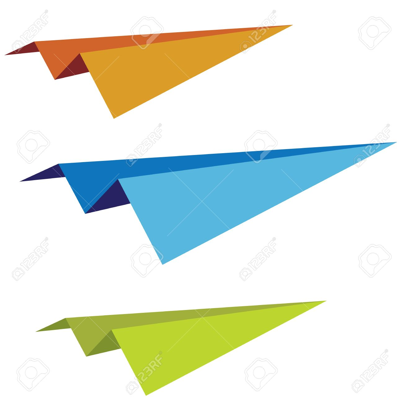 set of the vector varicoloured paper planes Stock Vector - 9611355