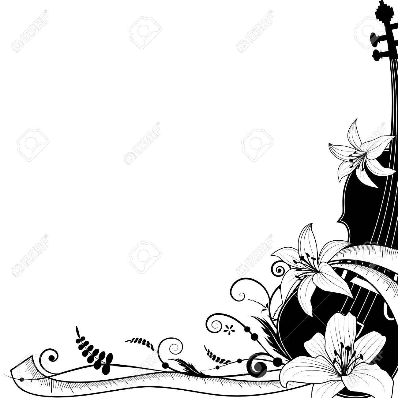 allegorical illustration of the violin with sartorial meter Stock Vector - 13409887