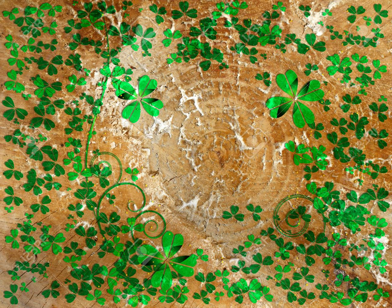 St Patrick s day background with wood texture Stock Photo - 24835555