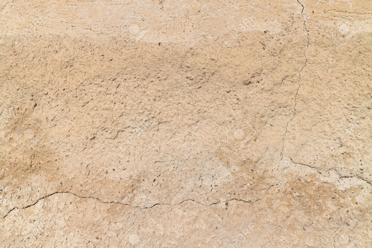 Ancient Clay Wall Textures Stock Photo