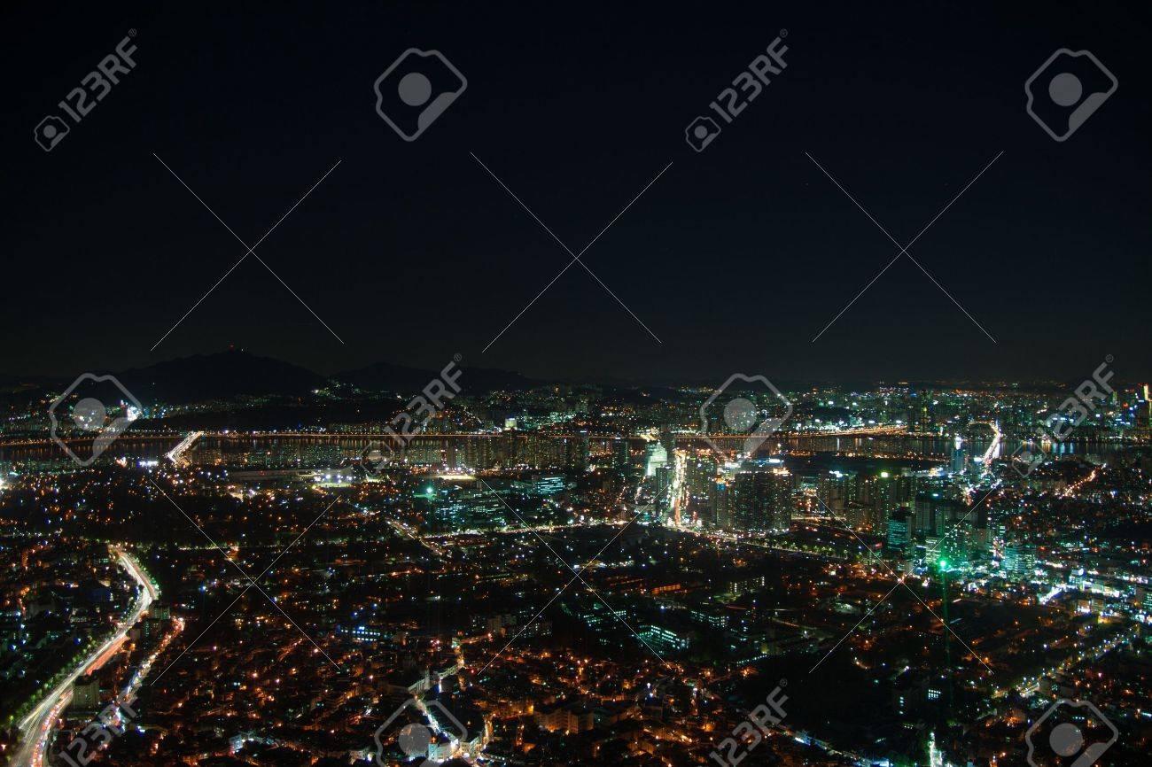 La Vida Nocturna De La Ciudad De Seúl Adecuado Para Una Visión