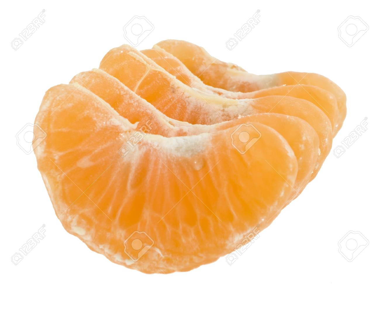 lobules of tangerine on a white background Stock Photo - 13780957