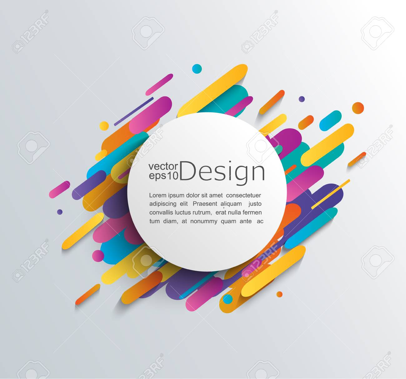 Colorful abstract template design. - 88942826