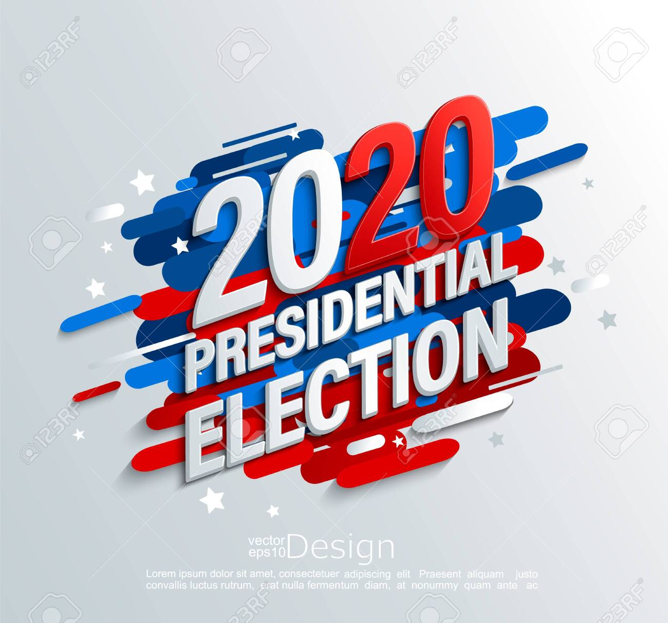 2020 Usa Presidential Election Banner On Modern Dynamic Background