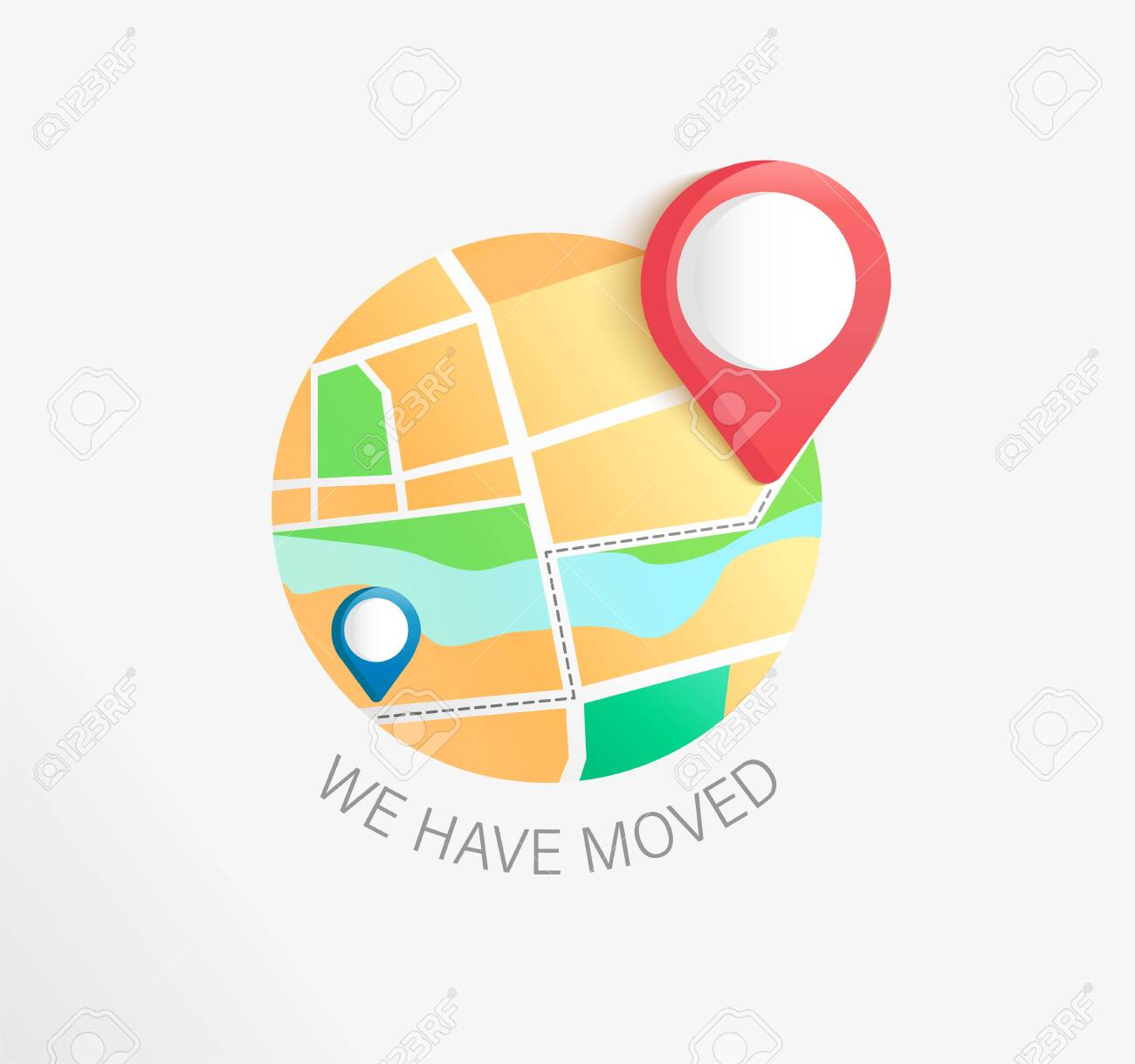 We Have Moved, Concept Of Business And Office Relocation. New Regarding Business Relocation Plan Template