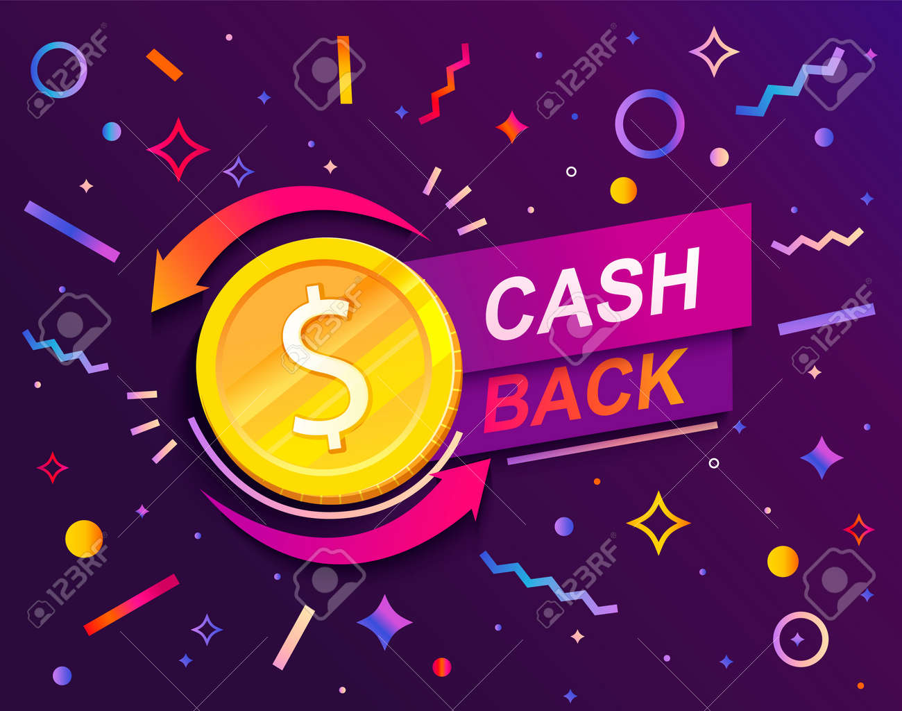 Cash back advertise banner with promo of refund. - 169501036