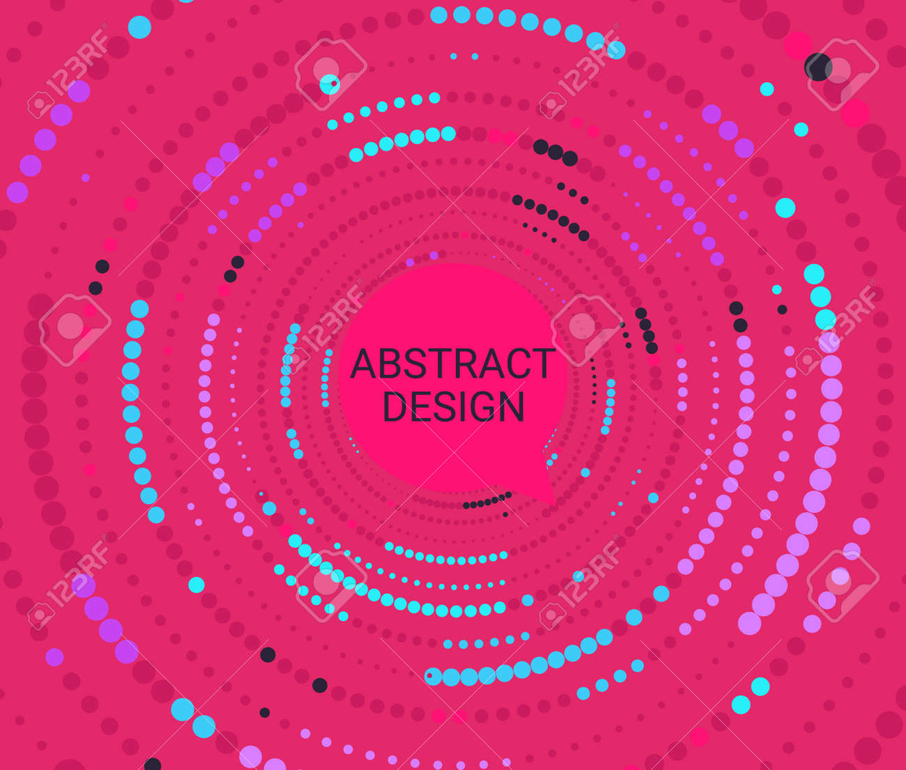 Abstract colorful dotted circles. - 171158480