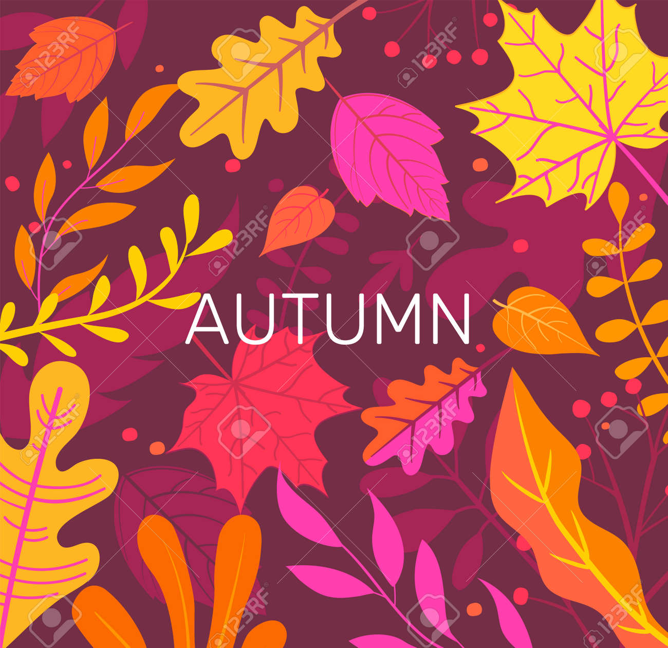 Autumn banner full of colorful autumn leaves. - 171534882
