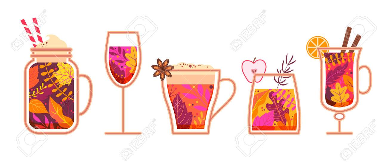 Autumn hot spicy drinks. - 171534883