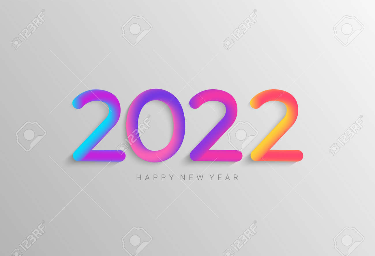 Bright banner for 2022 new year. - 173222553