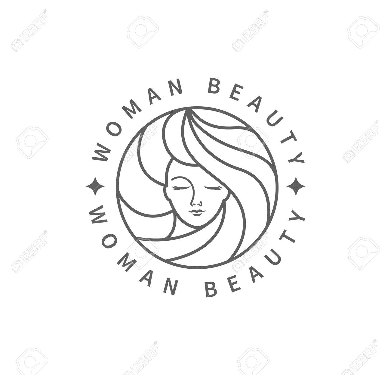 Woman beauty fashion logo. - 173377225