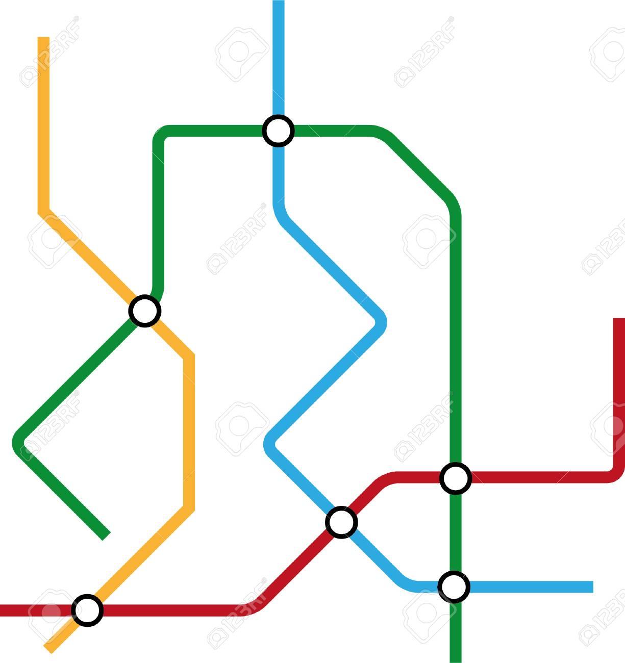 地下鉄地下鉄の路線図のイラスト素材ベクタ Image 88992194