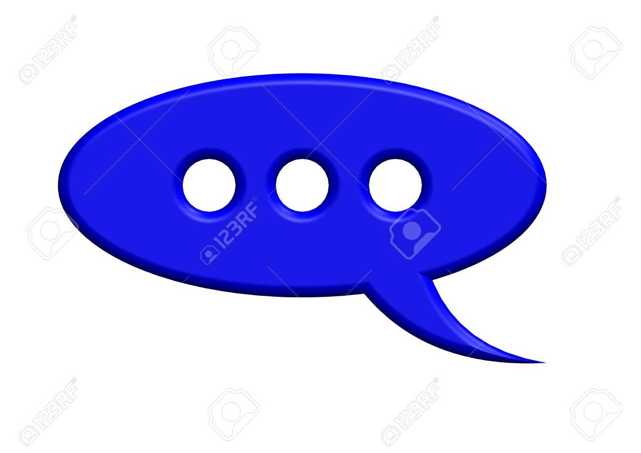 blue speech bubble Stock Photo - 10379964
