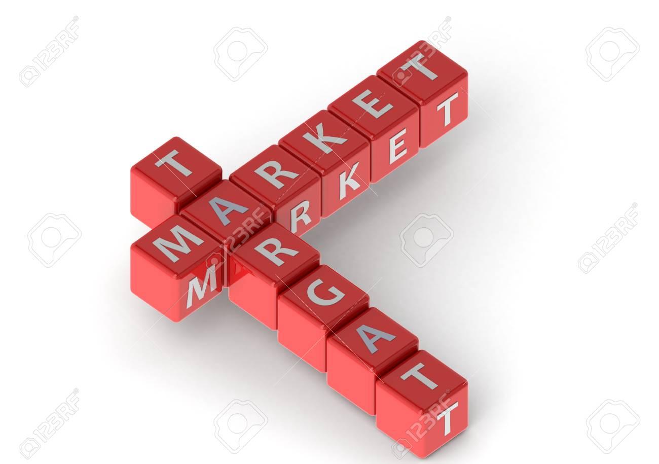 Buzzwords: target market Stock Photo - 11678964