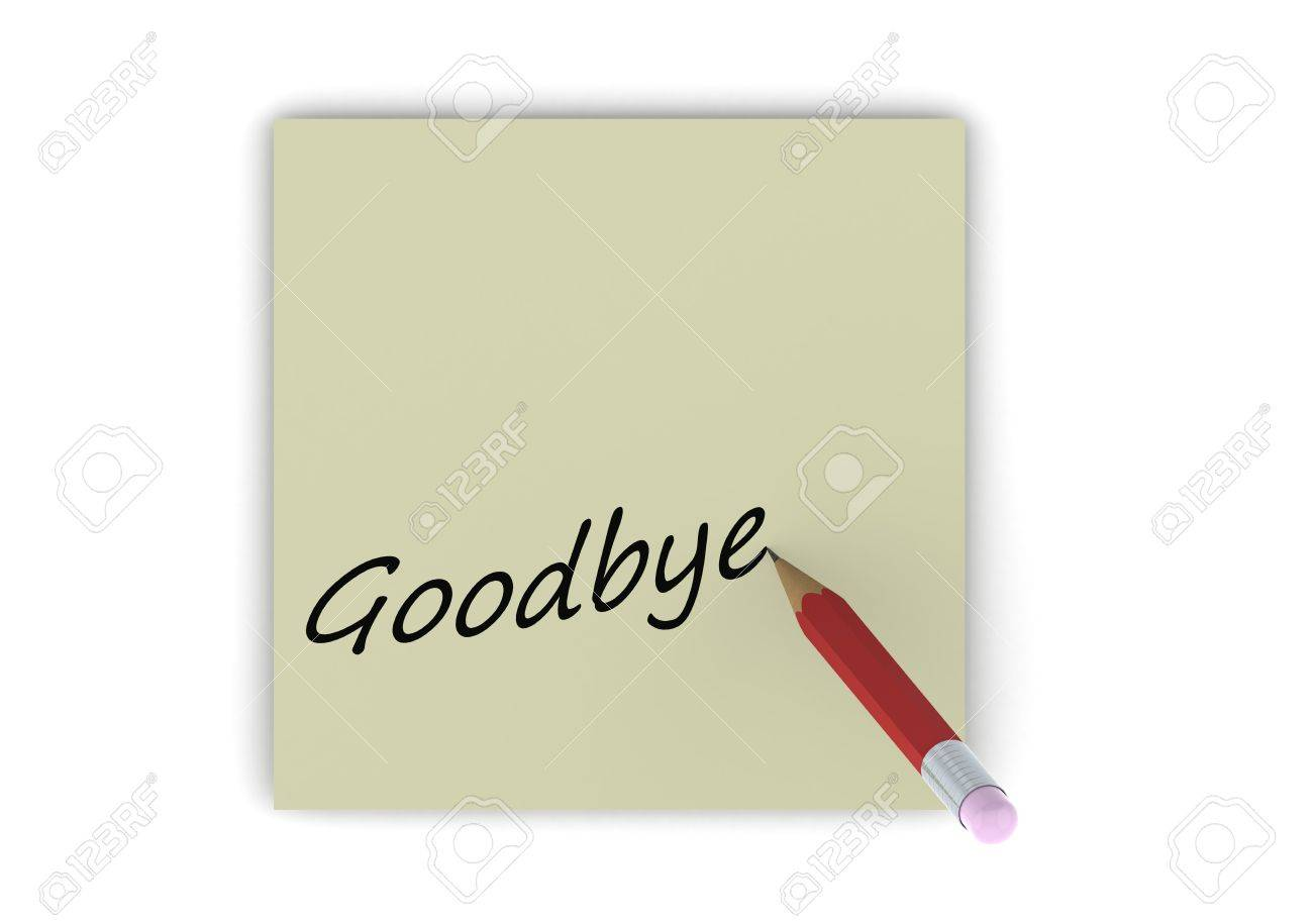Goodbye Note Photo Picture And Royalty Free Image Image – Goodbye Note