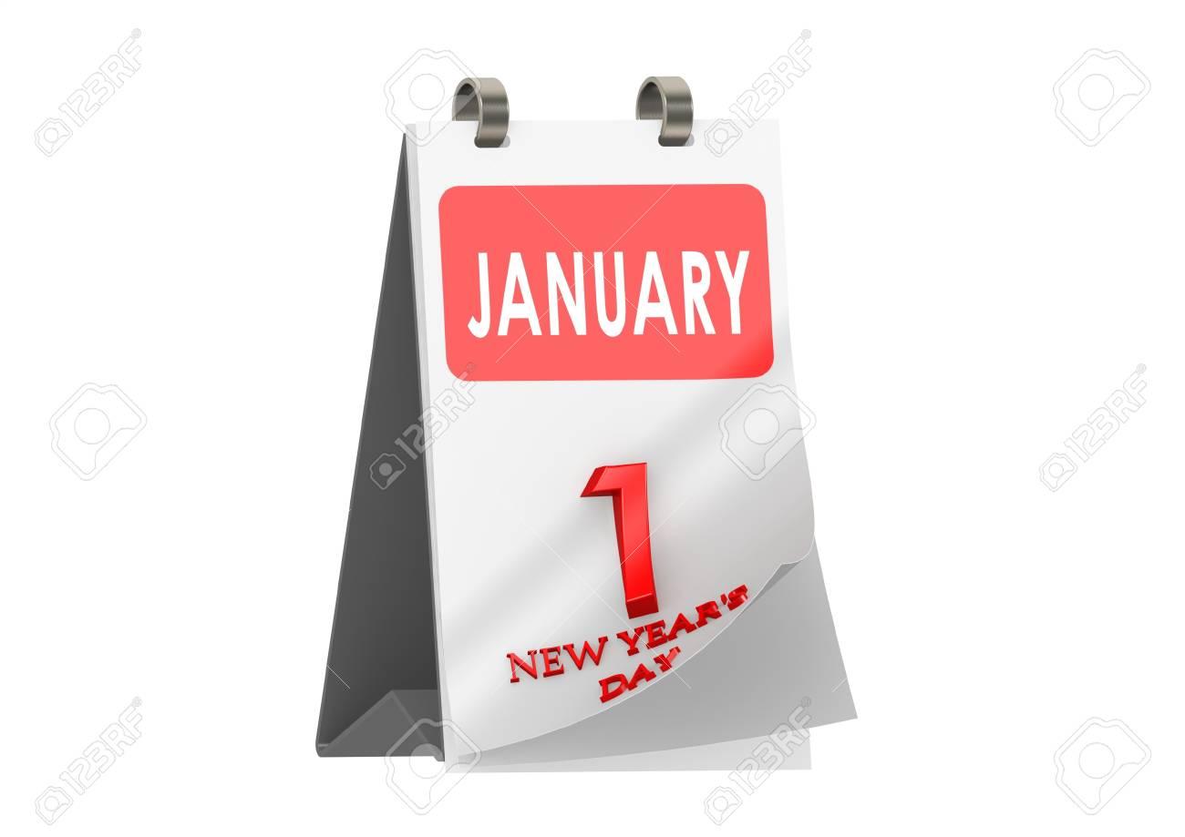 New Years Day Calendar Stock Photo - 14235740