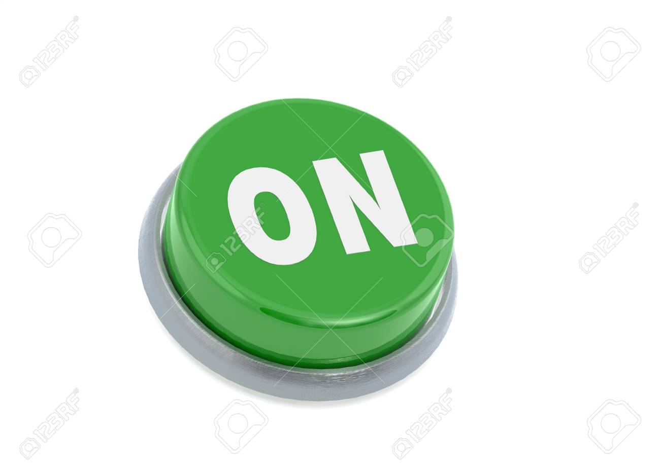 On button Stock Photo - 14353668