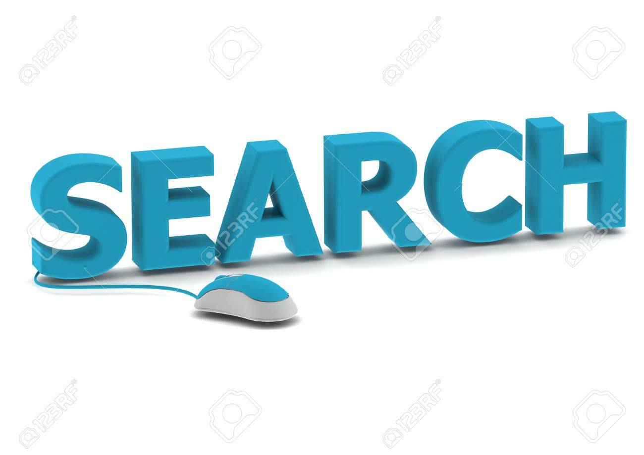 Search and computer mouse Stock Photo - 14462483