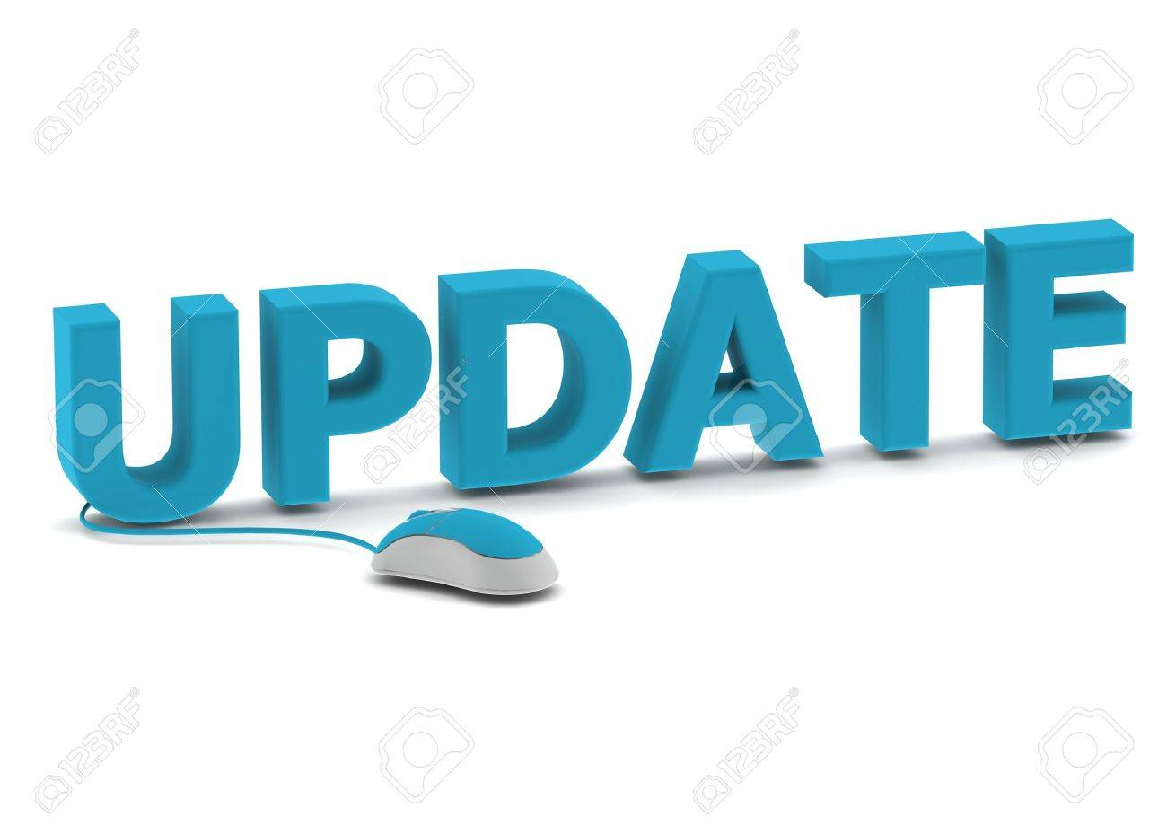 Update and computer mouse Stock Photo - 14462464