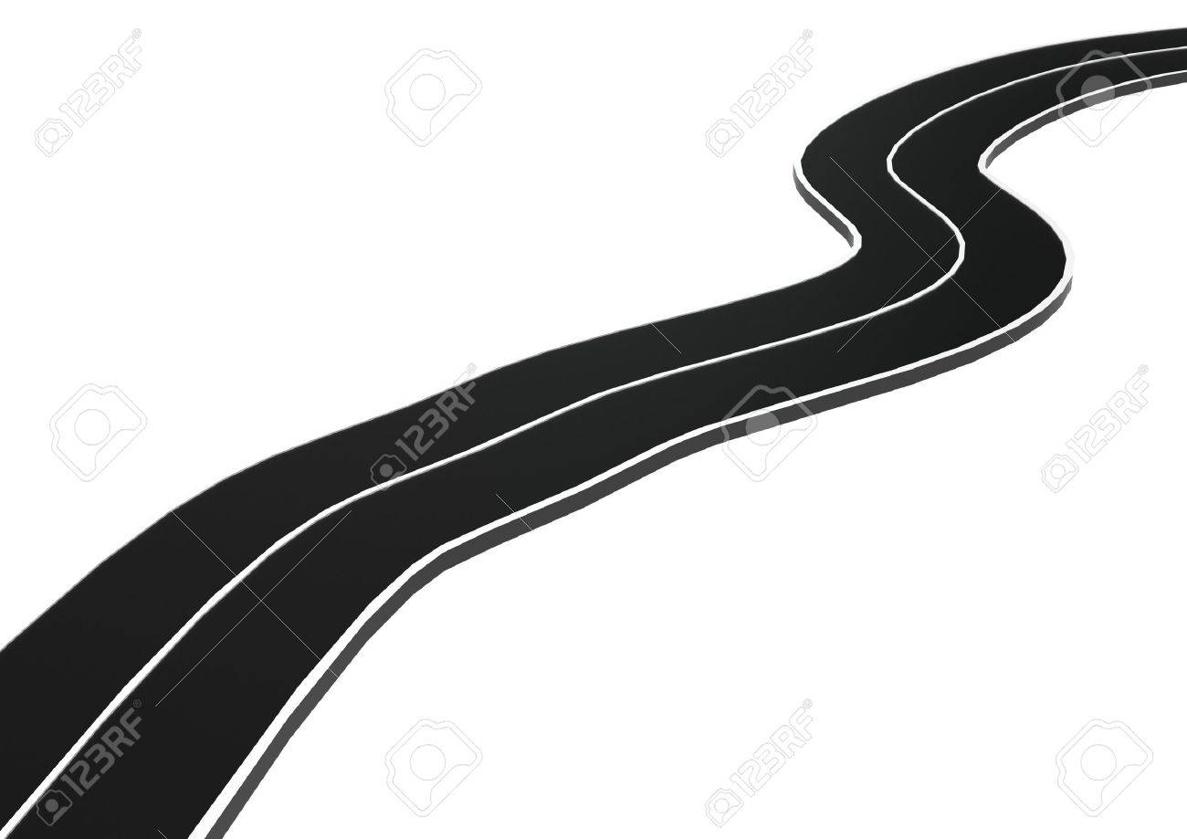 Curved asphalt road Stock Photo - 14556133