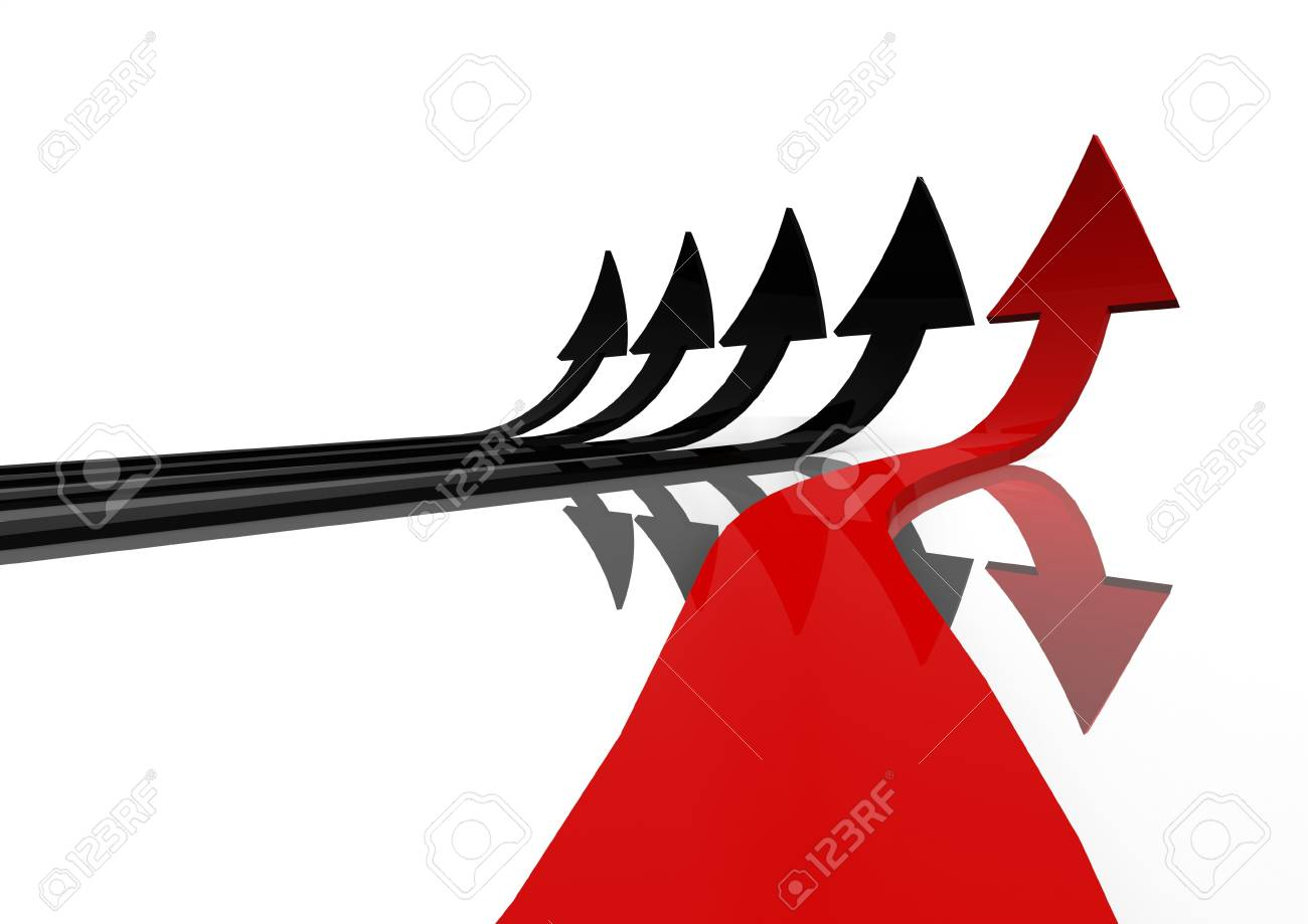 Red arrow Stock Photo - 14749792