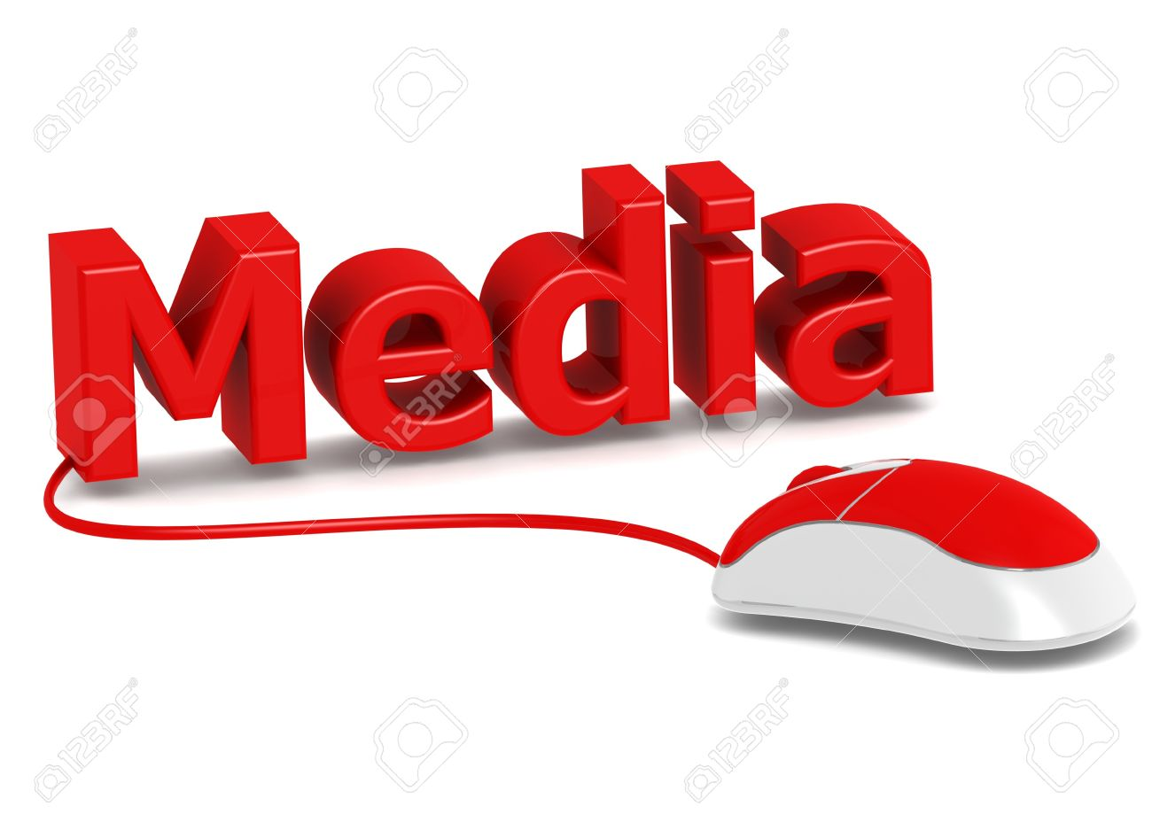 Computer mouse and media Stock Photo - 14822185