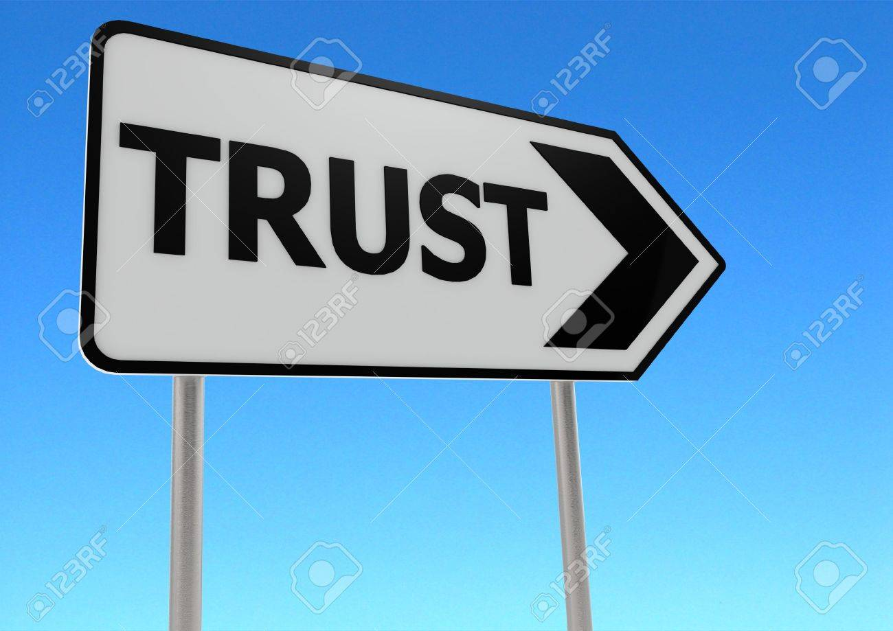 Trust road sign Stock Photo - 14822190