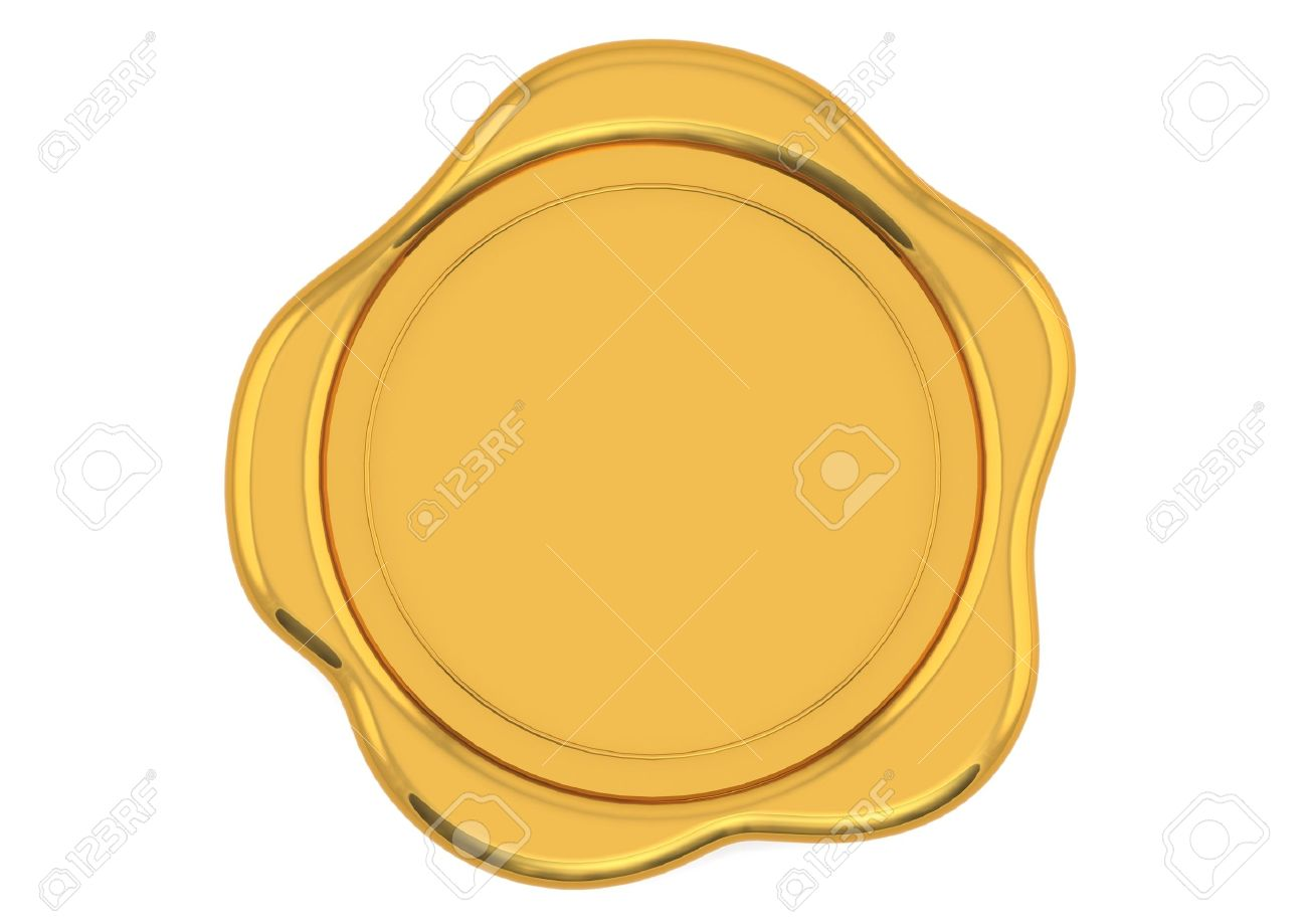 Gold wax seal Stock Photo - 14894668