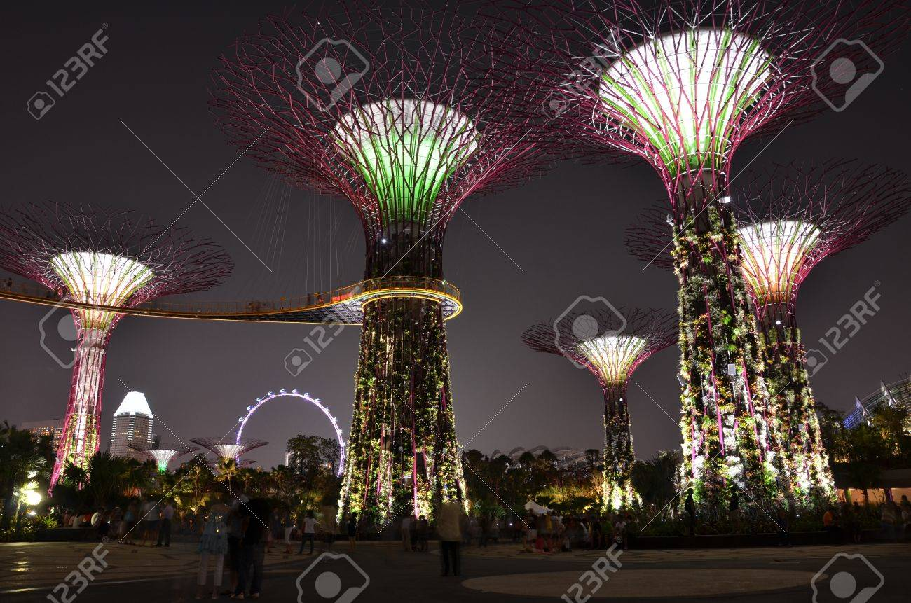 garden by the bay singapore stock photo 14819678