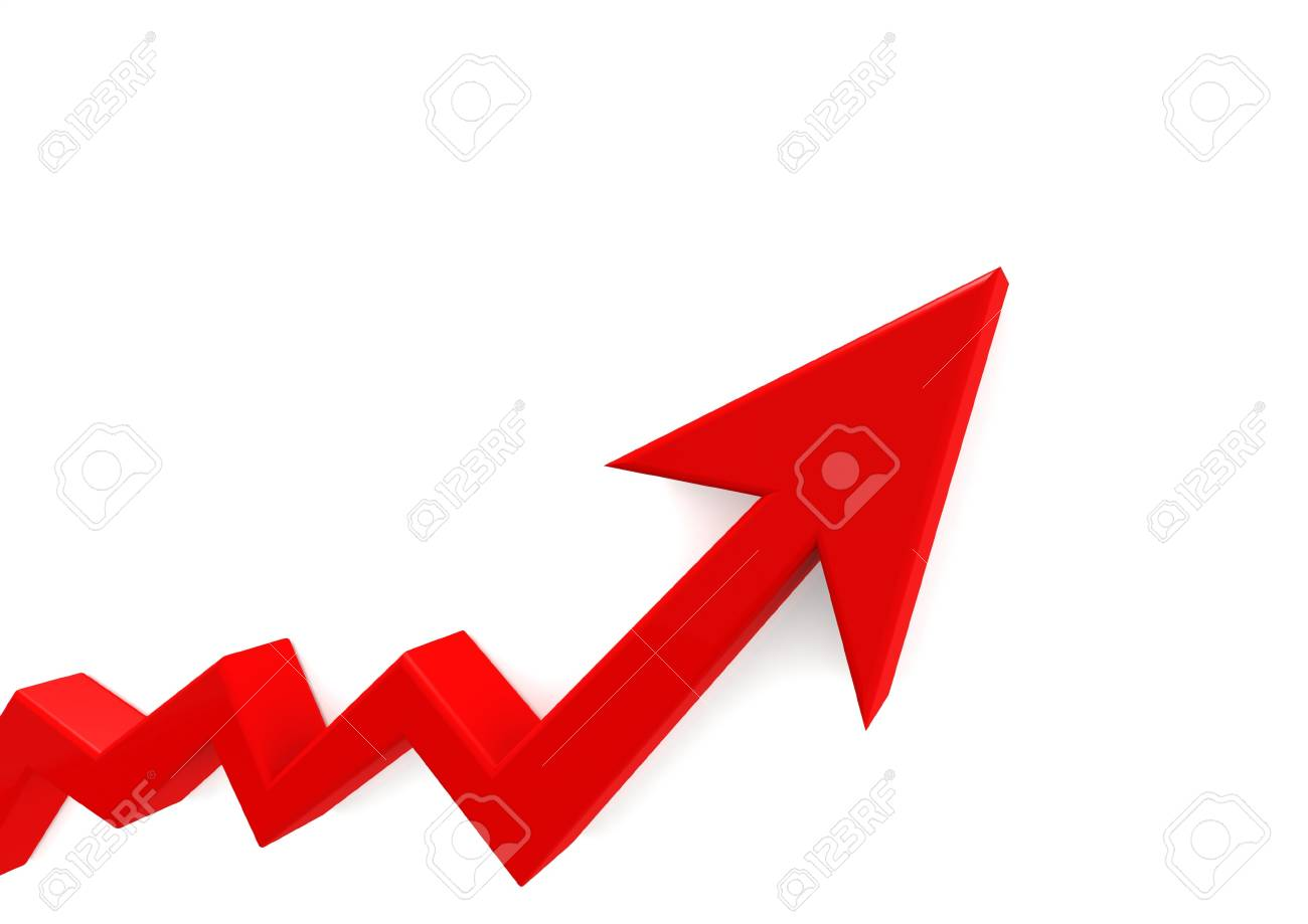 Red graph Stock Photo - 15526892