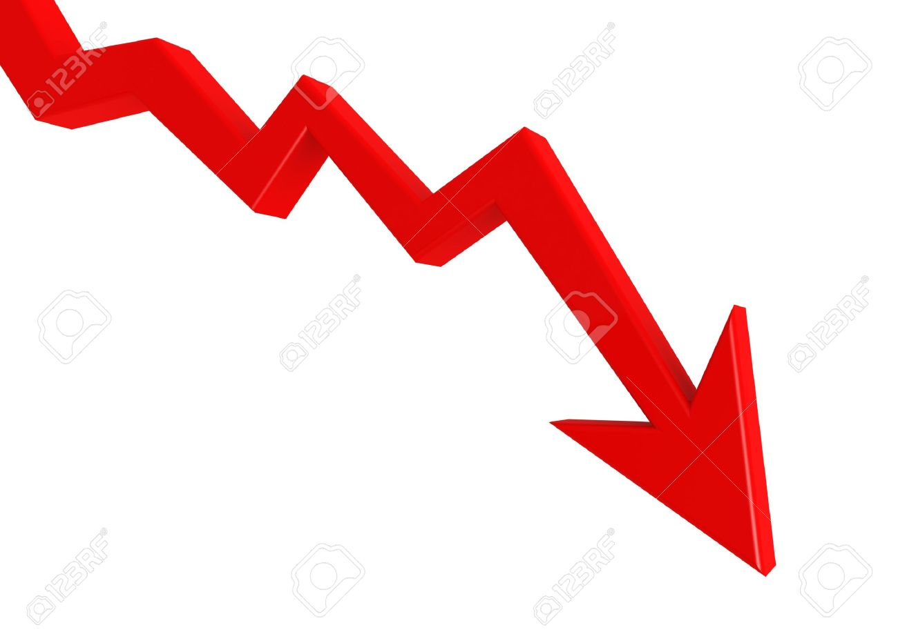 Red Graph Down Stock Photo, Picture And Royalty Free Image. Image ...