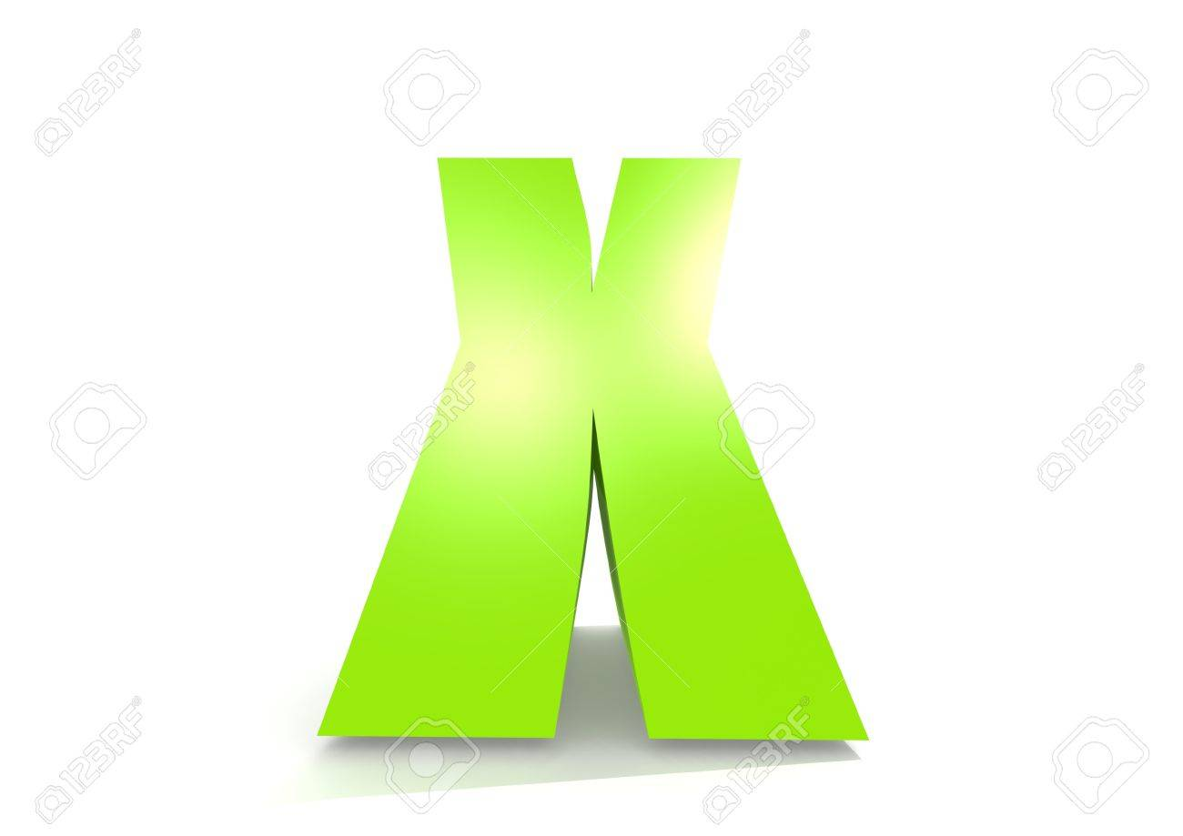 Green Letter X