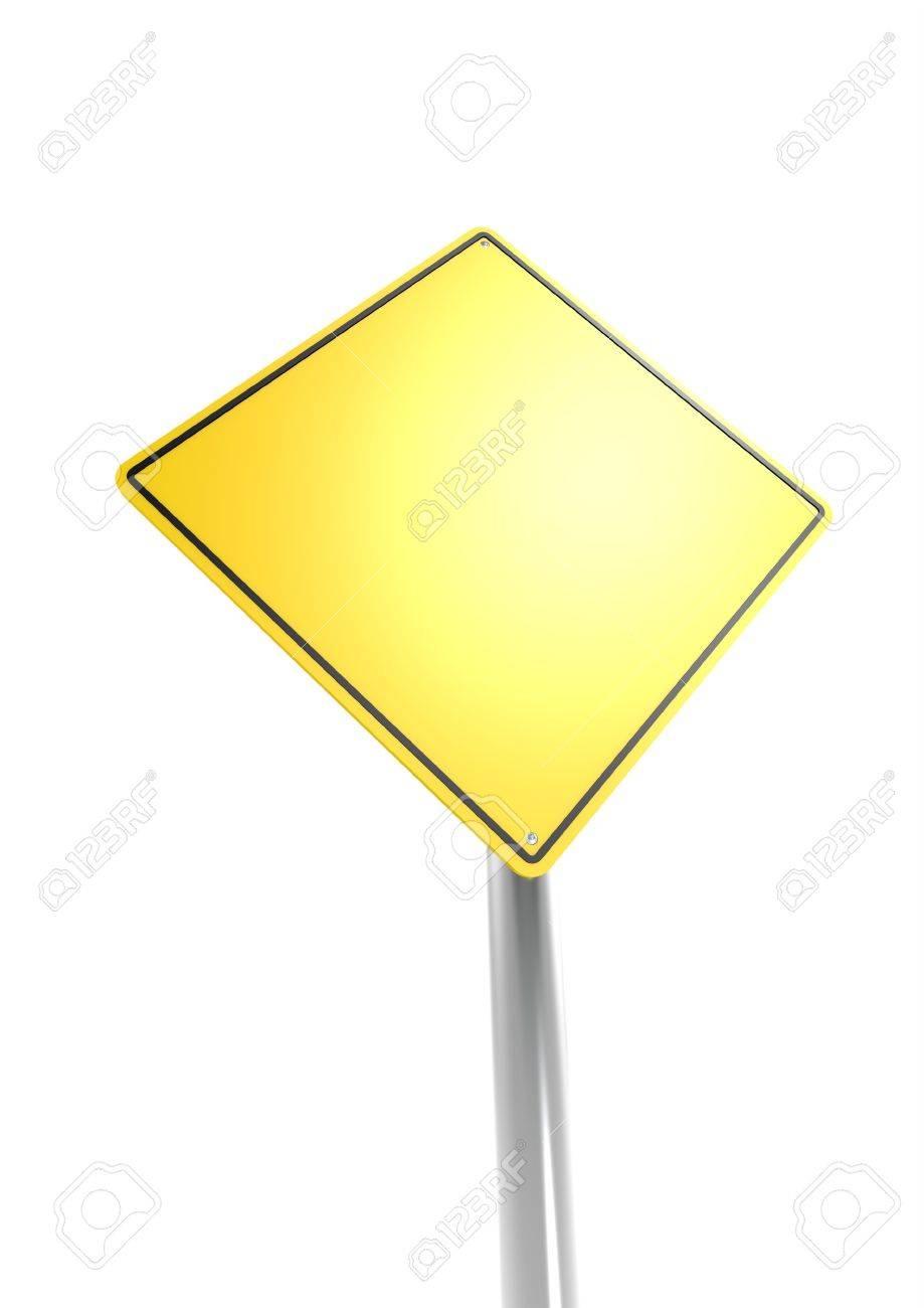 Blank warning sign Stock Photo - 16613152