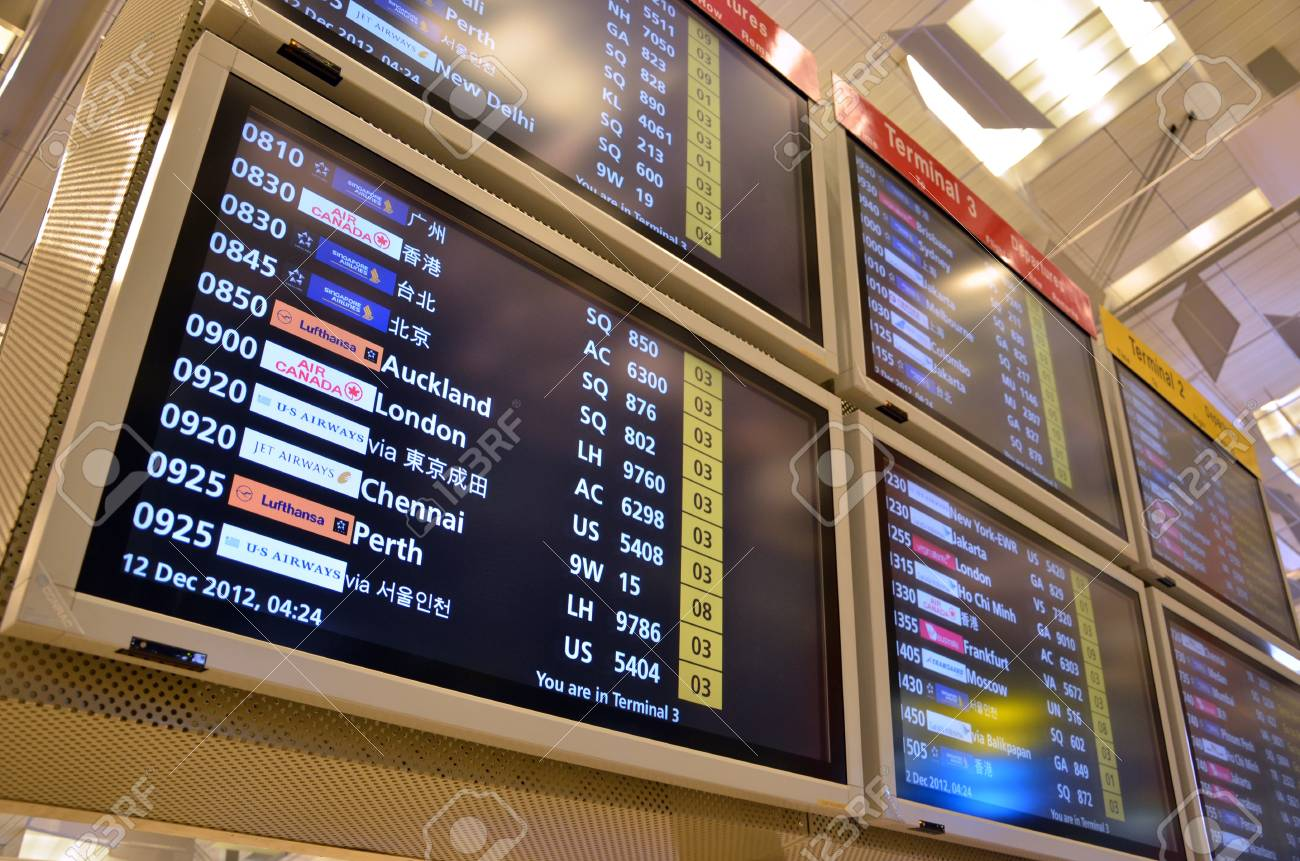 Departure board in airport Stock Photo - 16994017