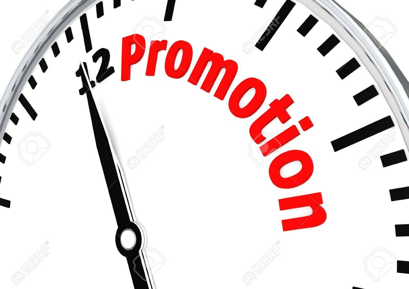 Time for promotion Stock Photo - 17346110