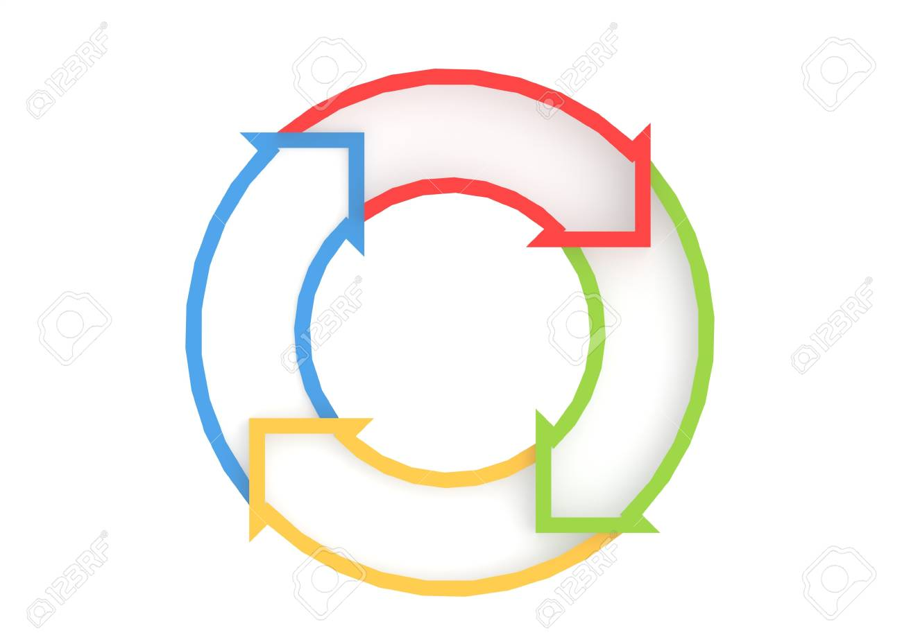 Circle arrows Stock Photo - 17372772