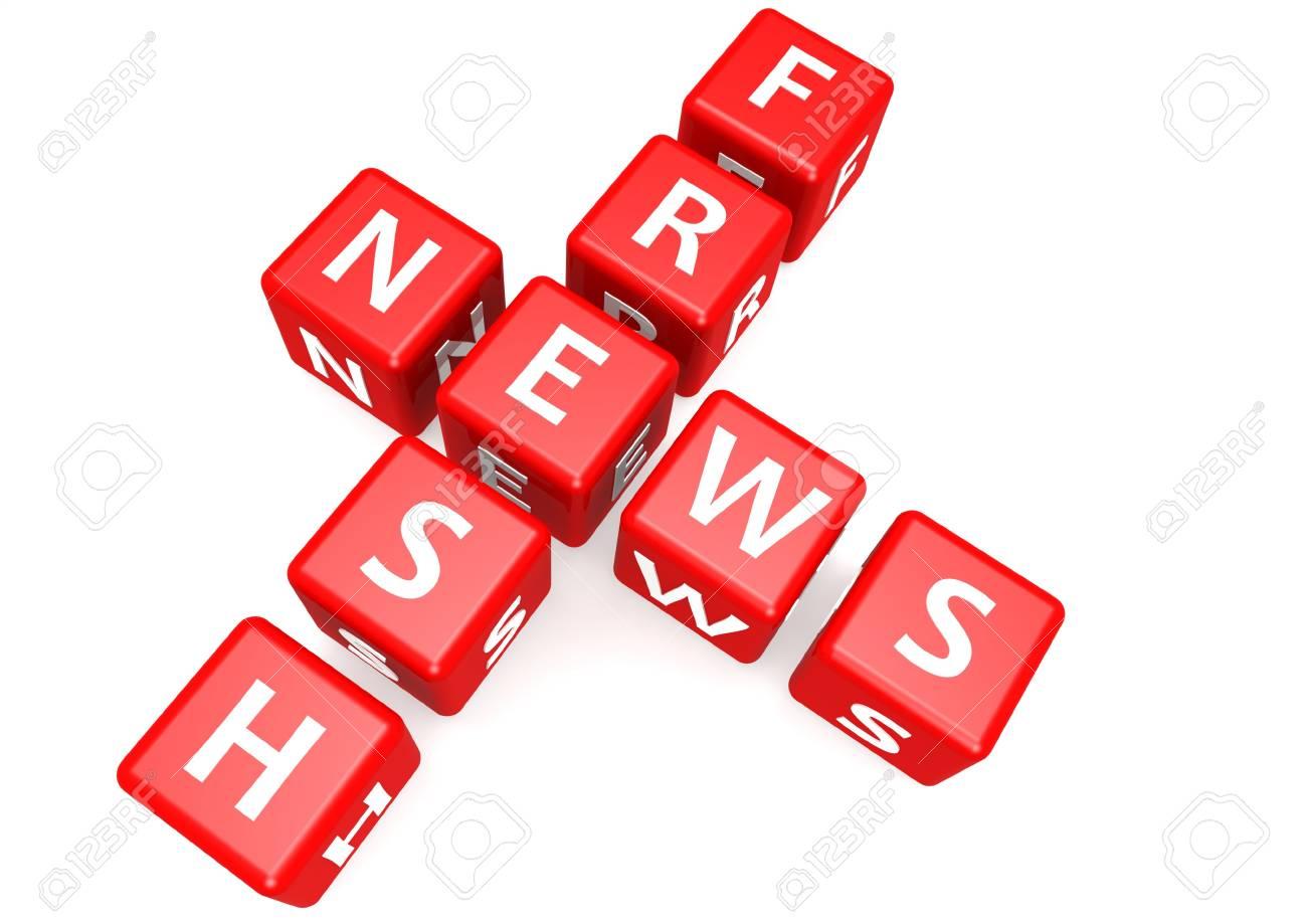 Fresh news in block Stock Photo - 18117102