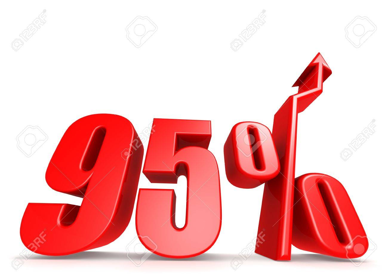 Up 95 percent Stock Photo - 18292897